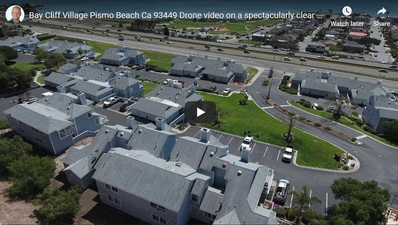 Bay Cliff Village Pismo Beach Drone Video